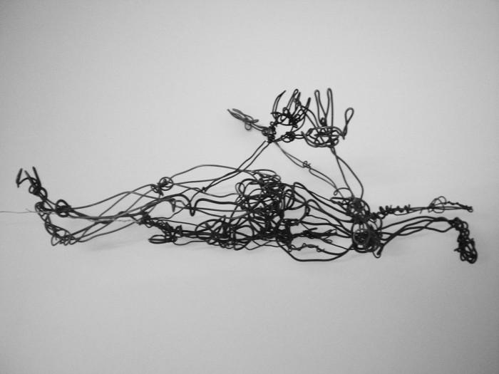 threedimensional drawing, 40cm, wire, line, 2011