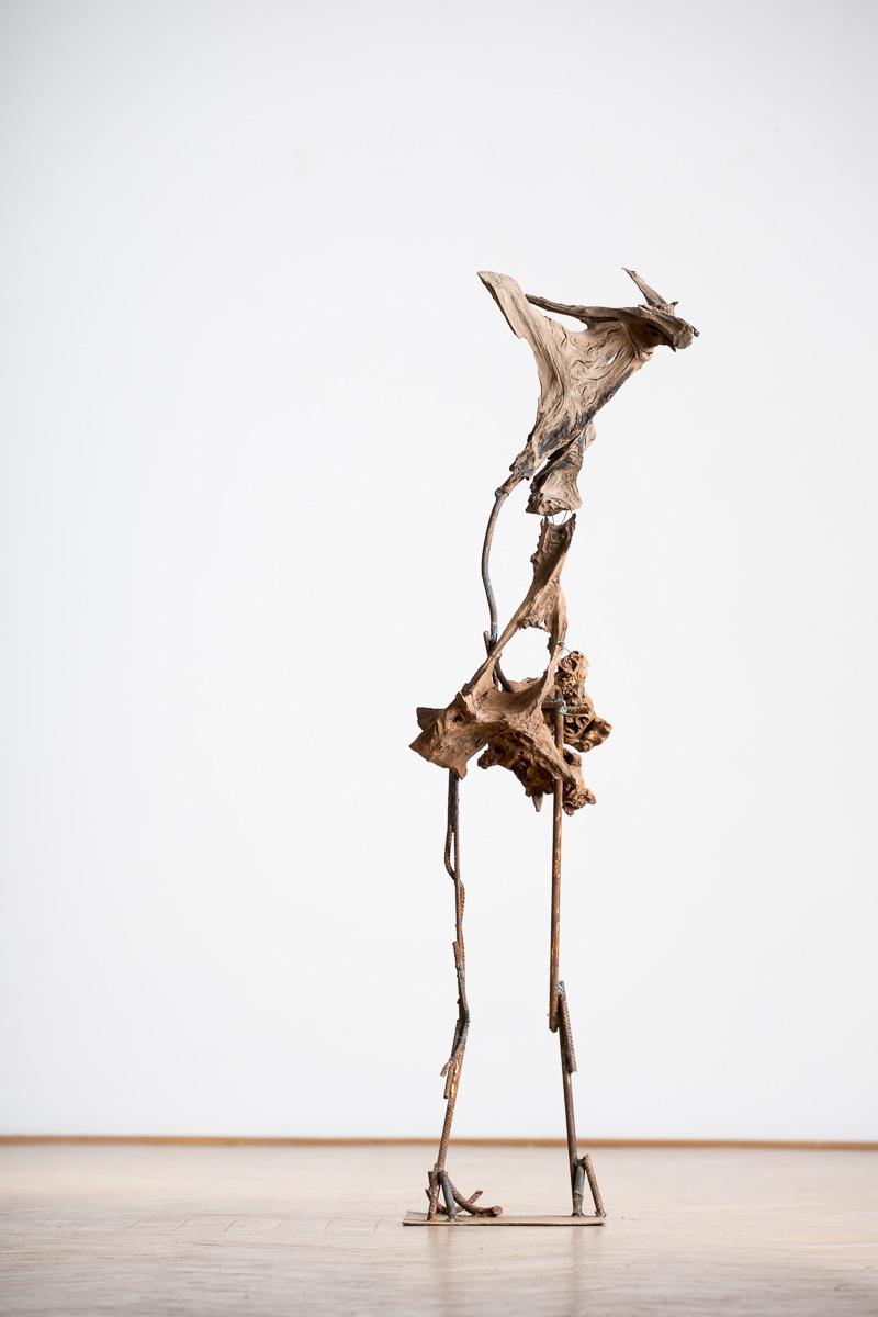 Satyr, iron, wood, 154 cm x 45 cm x 40cm, 2014. photo: Walter Wetzler
