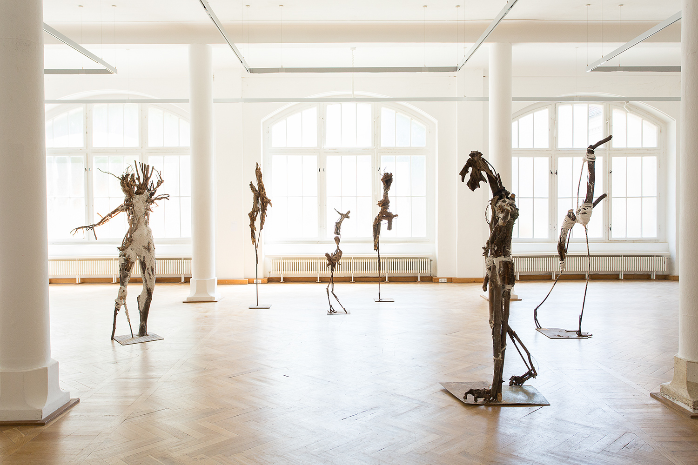 KörperGebilde, Burg Galerie Volkspark, Halle- Saale, 2014, photo: Matthias Ritzmann
