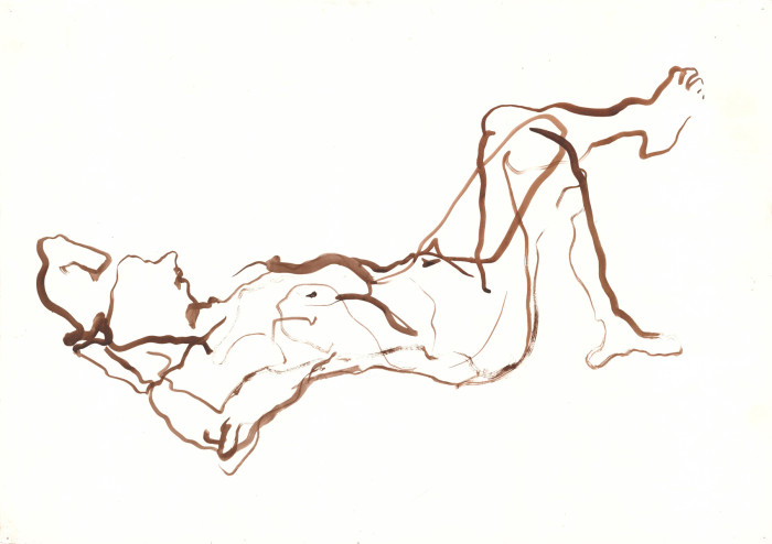 man-relaxing, india ink, 60cm x 42cm, 2010