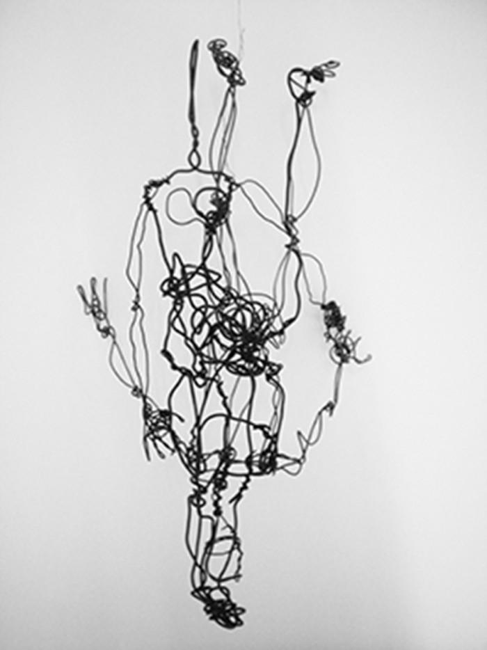 threedimensional drawing, wire, ca. 40cm