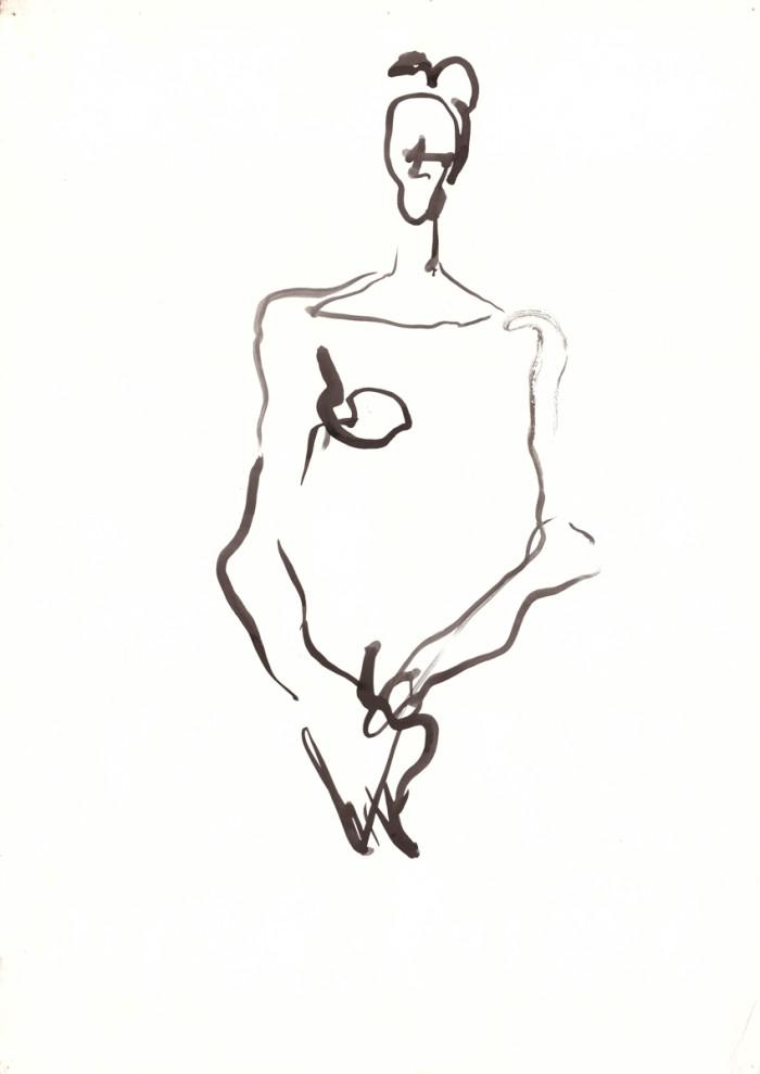 woman-2, india inc, 60cm x 42cm