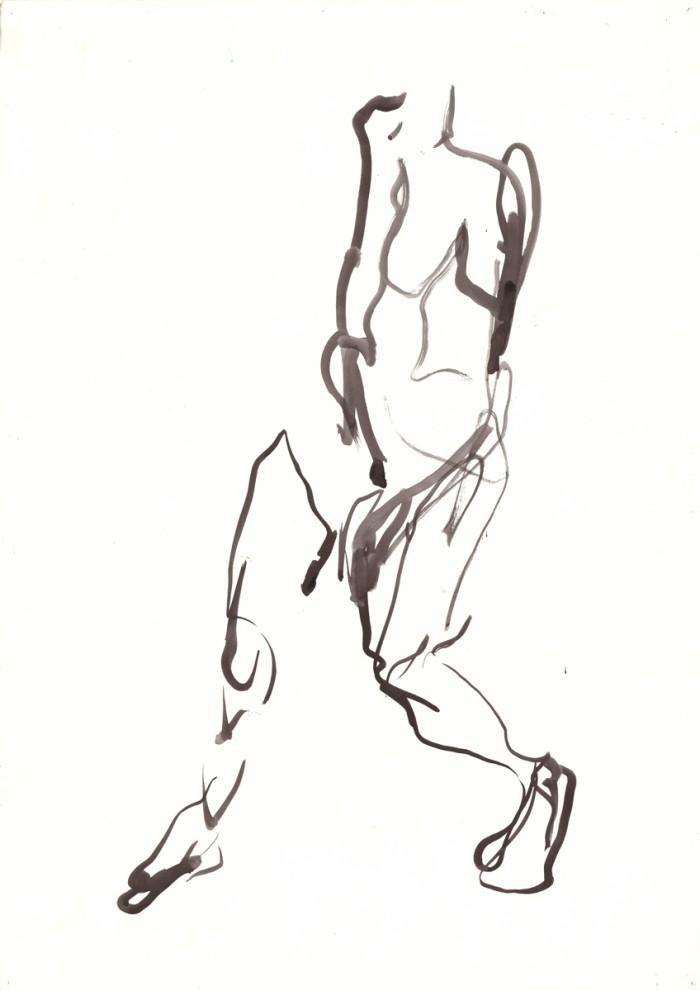 woman, indian inc, 60cm x 42cm