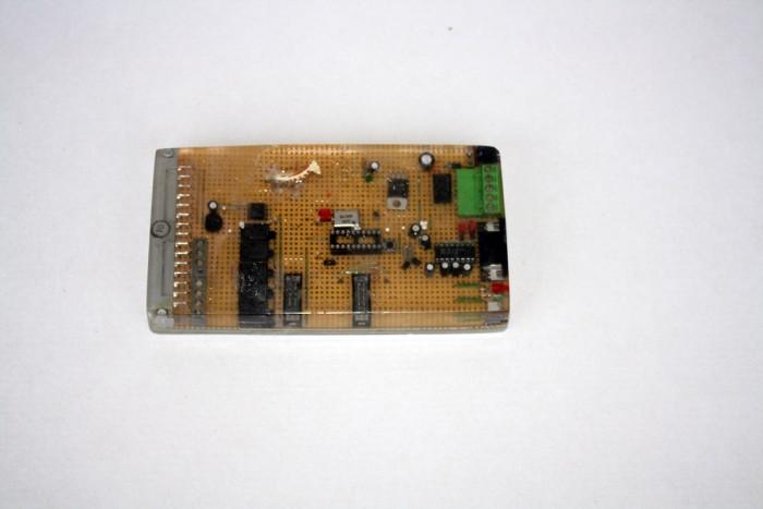 ICS giraffe, 2016, circuit board, casting resin