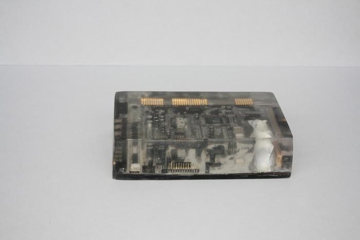 ICS polar bear, 2015, circuit board, casting resin